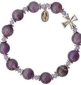 Sine Cera Amethyst Rosary Bracelet (10mm)