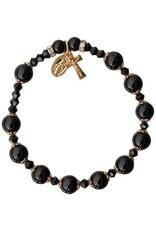 Black Onyx Rosary Bracelet (8mm)