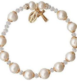 Sine Cera Pearl Rosary Bracelet (8mm)