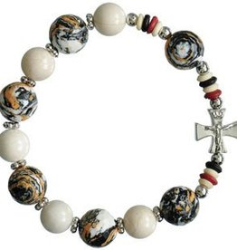 Sine Cerra Brown Multicolor Rosary Bracelet