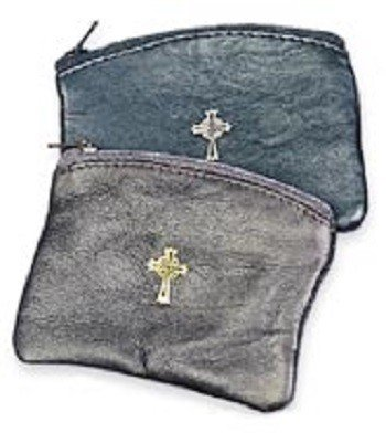 MDS Black Sheepskin Rosary Case