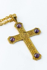 Gold Plated Pectoral Cross with 32″ Chain