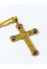MDS Gold Plated Pectoral Cross with 32″ Chain