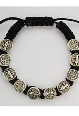 McVan Black St. Benedict Cord Bracelet Adjustable