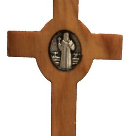 "McVan 1 3/4"" Olive Wood St. Benedict Crucifix on Cord"
