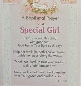 Special Girl Baptism Card