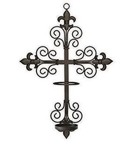 The Saints Gift Collection Cross Wall Sconce for The Saint's Collection LED Candle