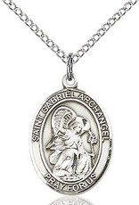 """Bliss Manufacturing Sterling Silver St. Gabriel Archangel Medal With 18"""" Chain"""