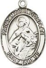 """Bliss Manufacturing Sterling Silver St. Maria Goretti Medal With 18"""" Chain"""