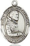 """Bliss Manufacturing Sterling Silver St. Pio of Pietrelcina Medal With 20"""" Chain"""