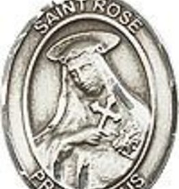 """Bliss Manufacturing Sterling Silver St. Rose of Lima Medal With 18"""" Chain"""