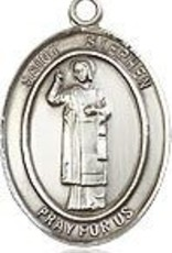 """Bliss Manufacturing Sterling Silver St. Stephen the Martyr Medal With 20"""" Chain"""