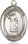 "Bliss Manufacturing Sterling Silver St. Stephen the Martyr Medal With 20"" Chain"
