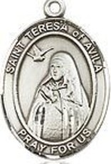 "Bliss Manufacturing Sterling Silver St. Teresa of Avila Medal With 18"" Chain"