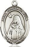 """Bliss Manufacturing Sterling Silver St. Teresa of Avila Medal-Pendant With 18"""" Chain Necklace"""