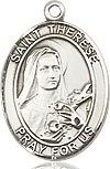 """Bliss Manufacturing Sterling Silver St. Therese of Lisieux Medal With 20"""" Chain"""