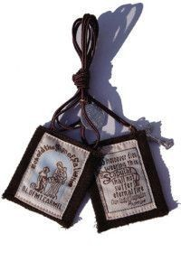 """1 3/4""""X2"""" 100% Wool Brown Scapular In Clamshell"""