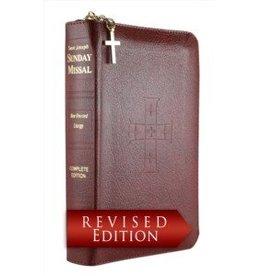 St. Joseph Sunday Missal Leather with Zipper