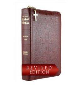 Catholic Book Publishing Corp St. Joseph Sunday Missal Leather with Zipper
