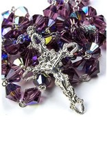 Moshy Brothers, Inc 7MM Amethyst Glass Bead Rosary