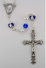 McVan 6mm Blue/Pearl Rosary