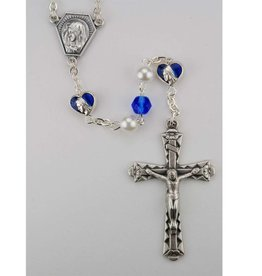 McVan 6mm Blue/Pearl Rosary