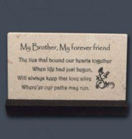 """My Brother..."" Prayer Stone"