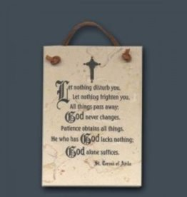Holy Land Stone Let Nothing Disturb You Stone Plaque