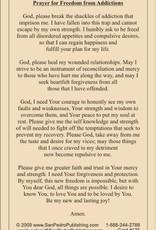 Freedom From Addiction Prayer Cards