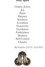 Gifts & Fruits of the Holy Spirit Prayer Card