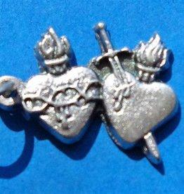 Pierced Hearts Charm