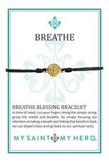 Breathe Blessing Bracelet - Gold - Black
