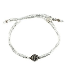 My Saint My Hero Breathe Blessing Bracelet Metallic - Silver Metallic