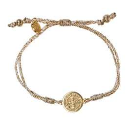 My Saint My Hero Serenity Blessing Bracelet - Metallic/Gold Medal - Gold Metallic