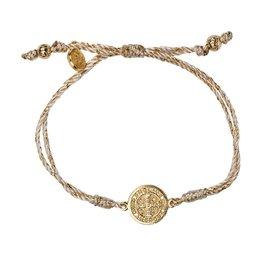 My Saint My Hero Serenity Blessing Bracelet - Metallic/Gold Medal - Gold Metallic