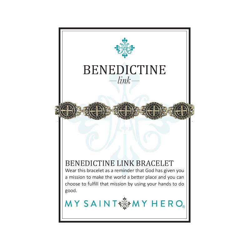 Benedictine Link Bracelet - AS - Antique Silver