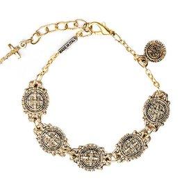 Benedictine Link Bracelet - AG - Antique Gold