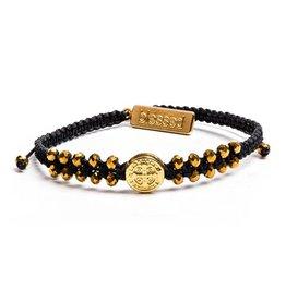 My Saint My Hero Stairway To Heaven Crystal Benedictine Bracelet Gold Medal