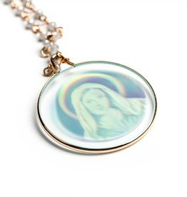 My Saint My Hero Halo Necklace Gold