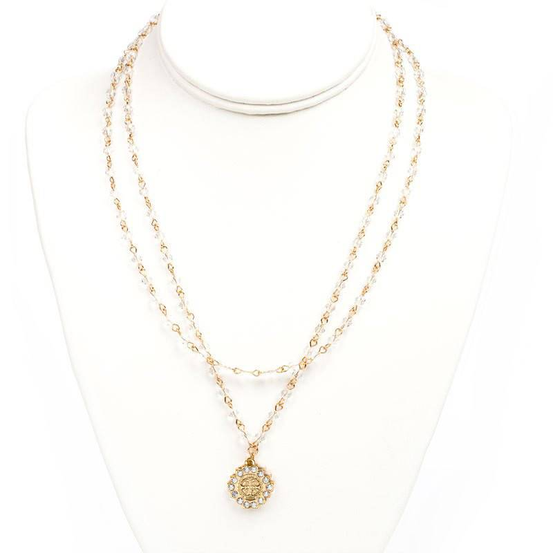 Brilliance Layer of Light Necklace Gold