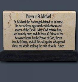 Holy Land Stone Prayer to St. Michael - Prayer Stone
