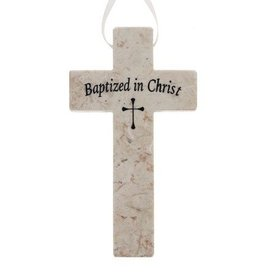 Holy Land Stone Holy Land Stone Baptism Cross