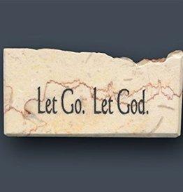 Holy Land Stone Let Go. Let God. - Promise Stone