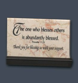 "Holy Land Stone Proverbs 11:25 ""The One Who Blesses Others"" Prayer Stone"