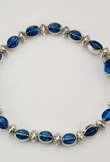 McVan Blue Enamel Miraculous Stretch Bracelet