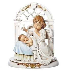 """8"""" Angel with Sleeping Baby Statue"""