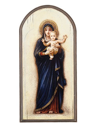 "Christian Brands 15"" Madonna and Child Plaque"