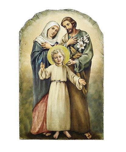 Christian Brands Marco Sevelli - Holy Family Arched Tile Plaque with Stand