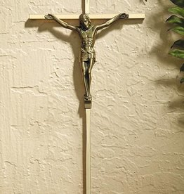 Christian Brands Gold Plated Cross with Antique Gold Finish Corpus
