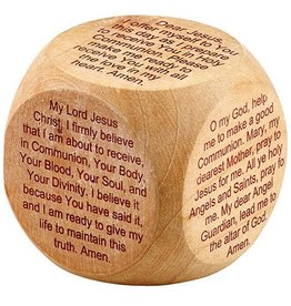 Christian Brands First Communion Prayer Cube